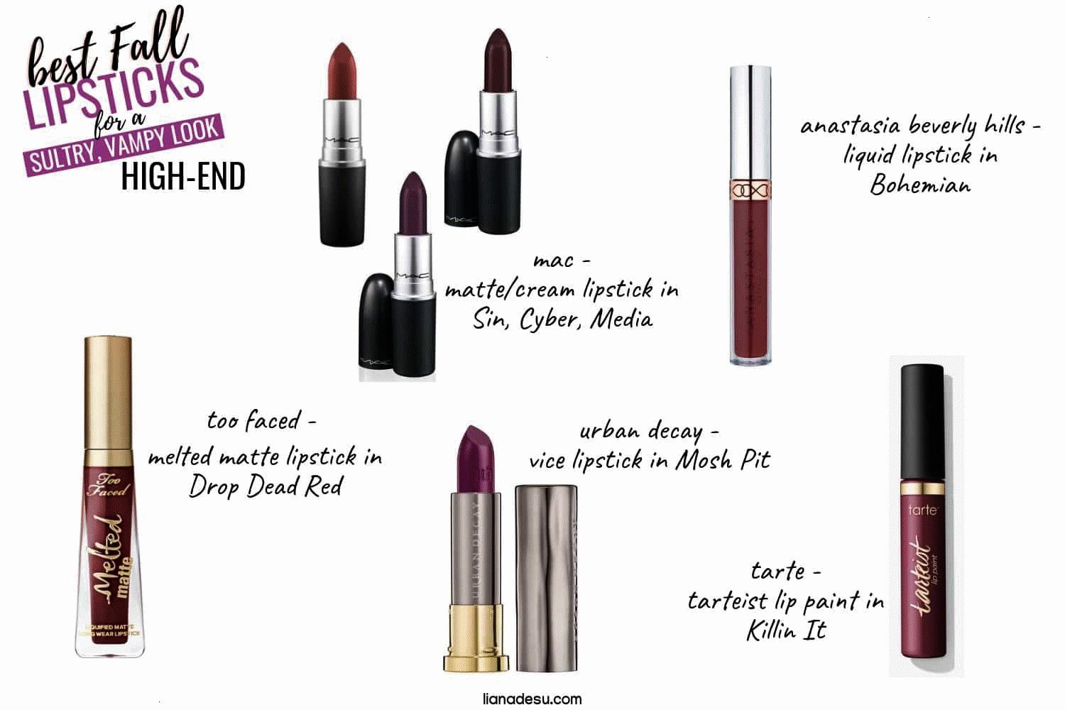 is all about dark deep berry tones to create a sultry and vampy look. Check out these dark lipstick