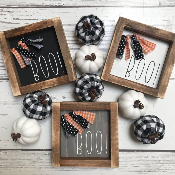 Halloween Fairs In Garland Area 2020 Boo sign with fabric garland halloween sign gift | Etsy in 2020