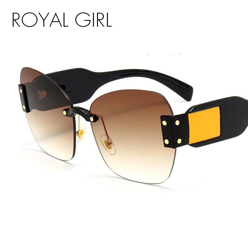 a7ee6b30c9 ROYAL GIRL Classic Oversized Square Sunglasses Women Brand Design Black  Acetate Butterfly-Shape Frame Shades UV400 Eyewear ss369