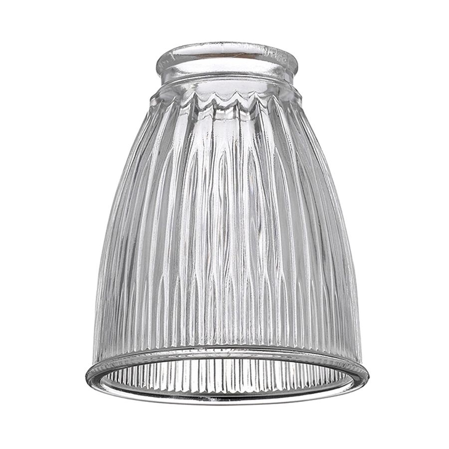 Sea Gull Lighting H W Clear Ribbed Glass Bell Ceiling Fan Light Shade