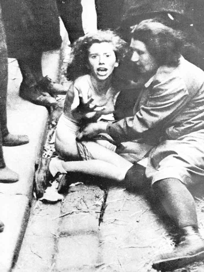 A Jewish rape victim in the city of Lvov -- one of 1000 Jews rounded up and turned over to the Germans by local citizens David Rubinger - Archives of the Ghetto Fighter's House, Israel