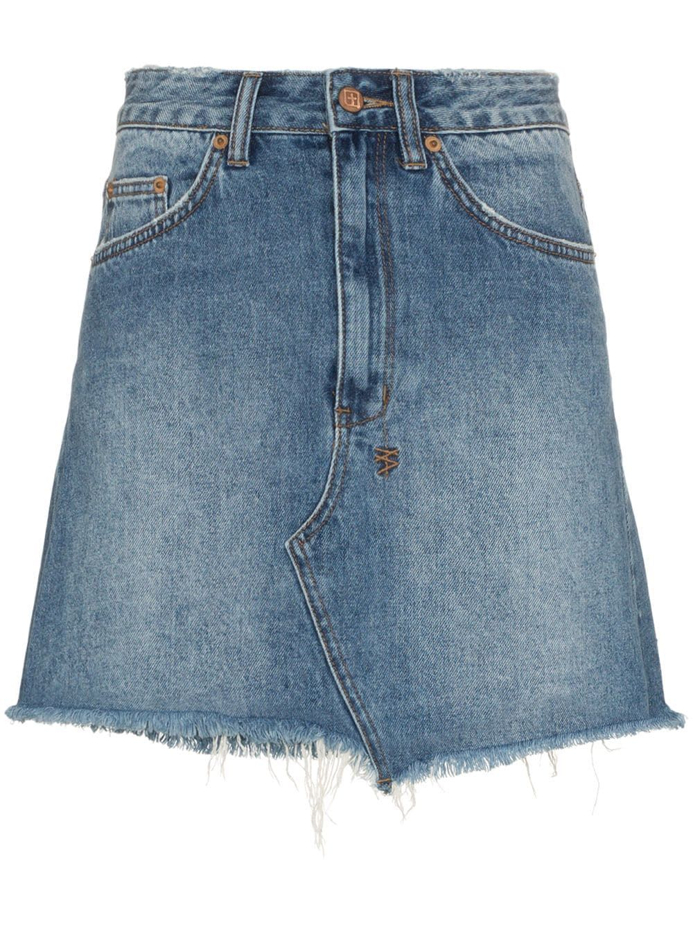 fe636ac3e630 Shop Ganni Meranti utility pocket leather wrap skirt | Skirts in 2019 |  Mini skirts, Leather mini skirts, Skirts