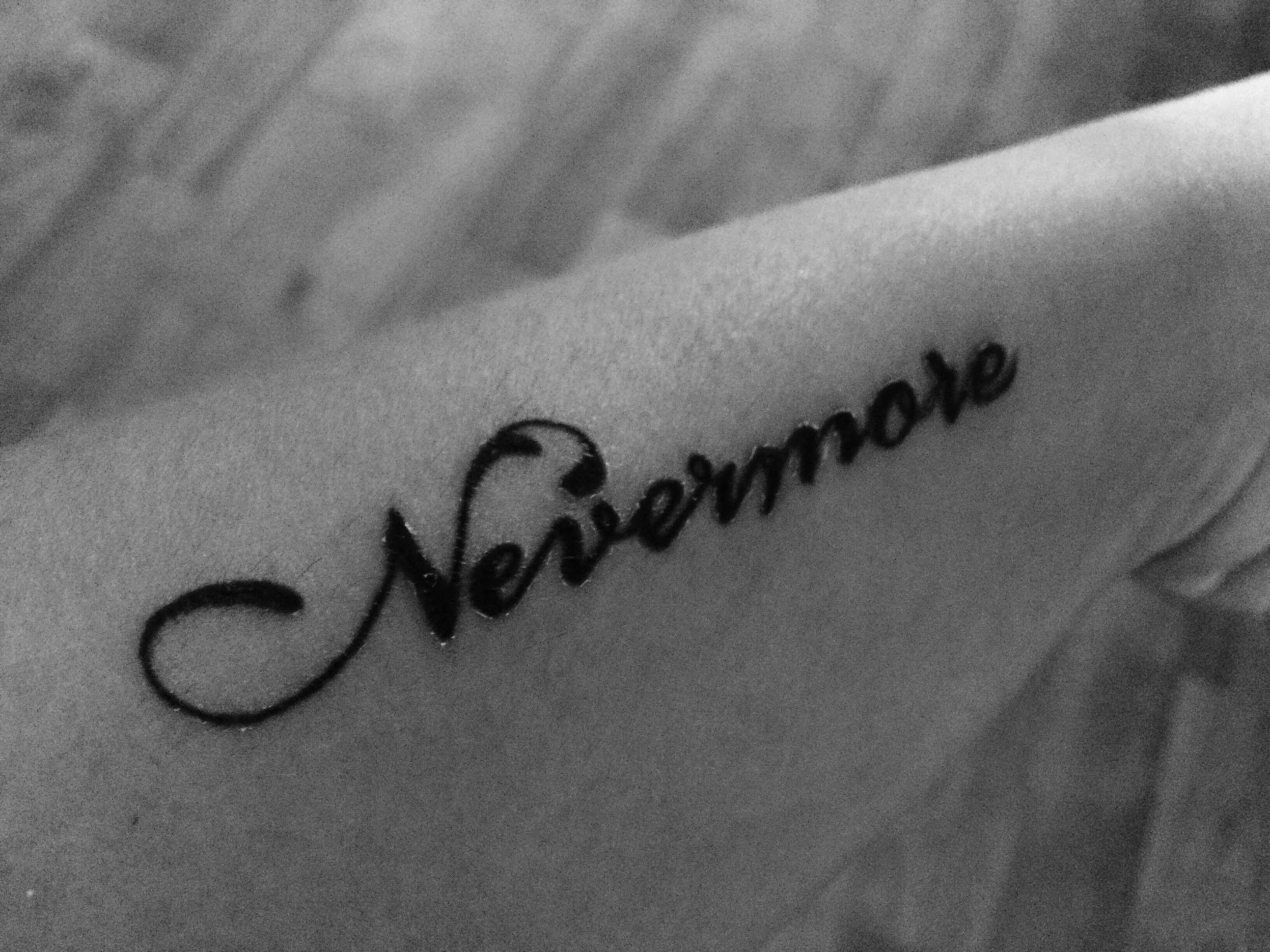My first #tattoo ever! #Nevermore, to remember Edgar Allan #Poe ...