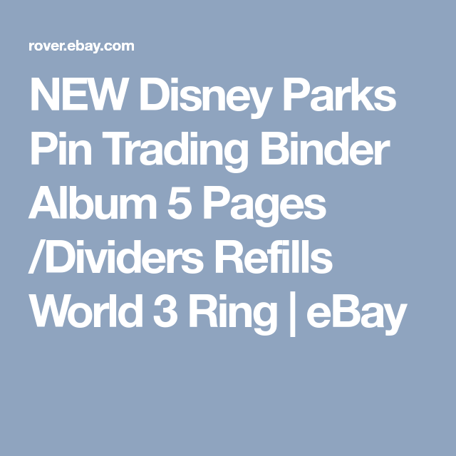 New Disney Parks Pin Trading Binder Album 5 Pages Dividers Refills