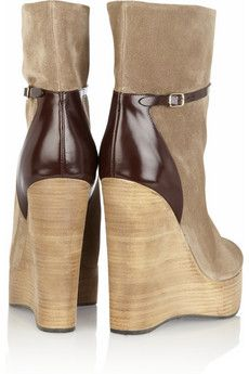 Chloé Suede Wedge Booties official discount best wholesale lTenRBNfe