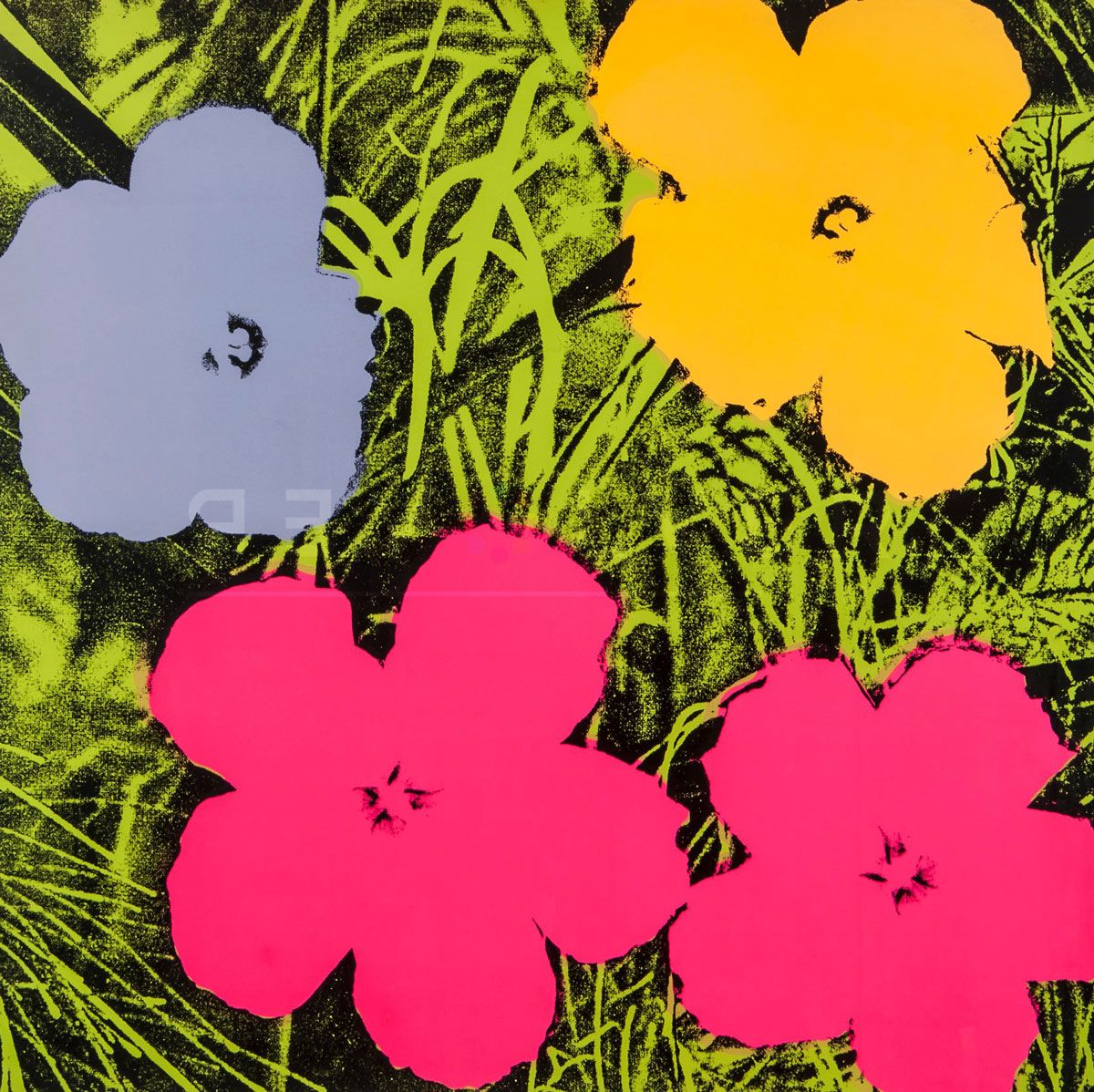 Fiori Warhol.Flowers 73 Print By Andy Warhol Arte Del Fiore Dipingere Fiori