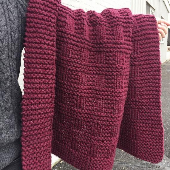 Knitting Pattern Westport Blanket Throw Afghan