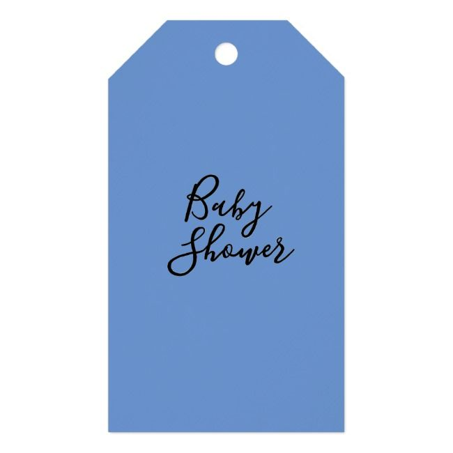 Rustic Cornflower Blue Peony Baby Shower Thank You Gift Tags | Zazzle.com #bluepeonies