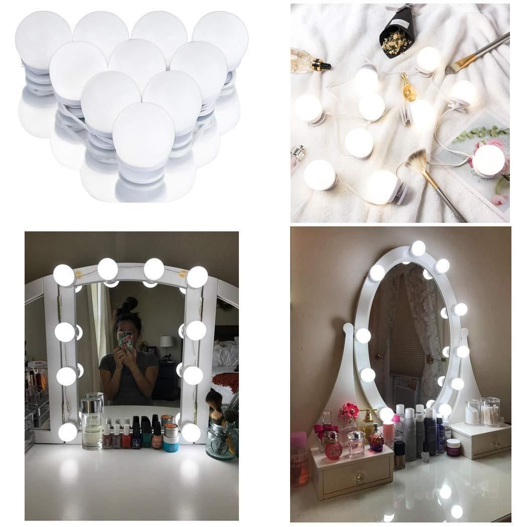 5V USB Hollywood LED Vanity Mirror Lights Kit, Dimmable