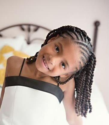 Flat Twist Hairstyles For Kids Hairstyles Kids Braided
