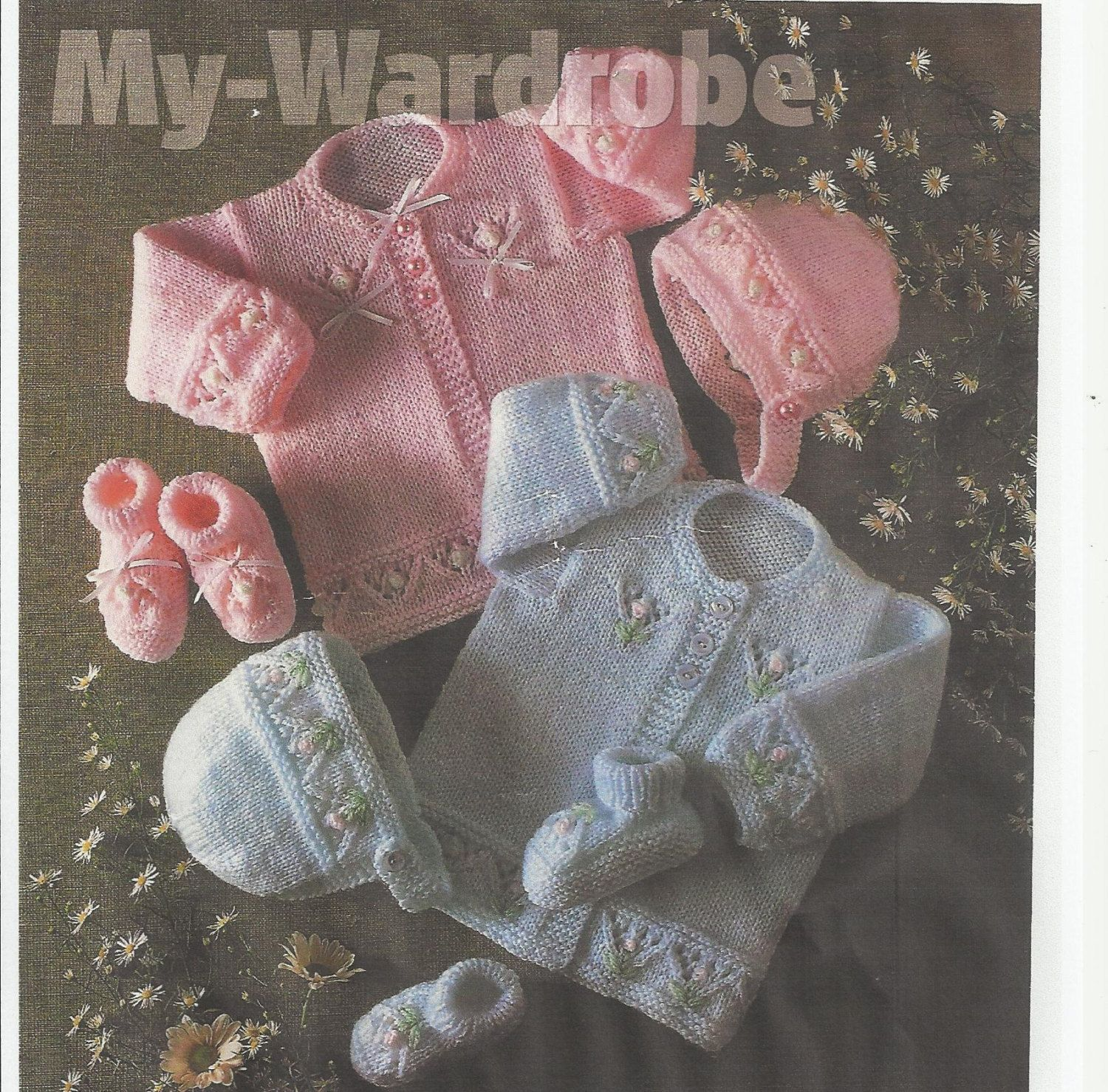 6a4313ad5 vintage baby knitting pattern for stunning mattinee by lillbees ...