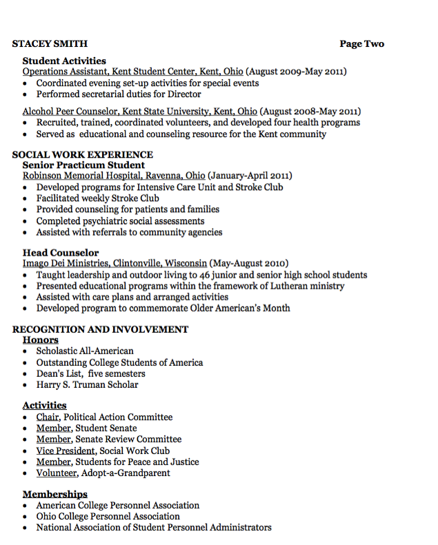 Social Work Resume Objective Residence Service Resume Example  Httpresumesdesign