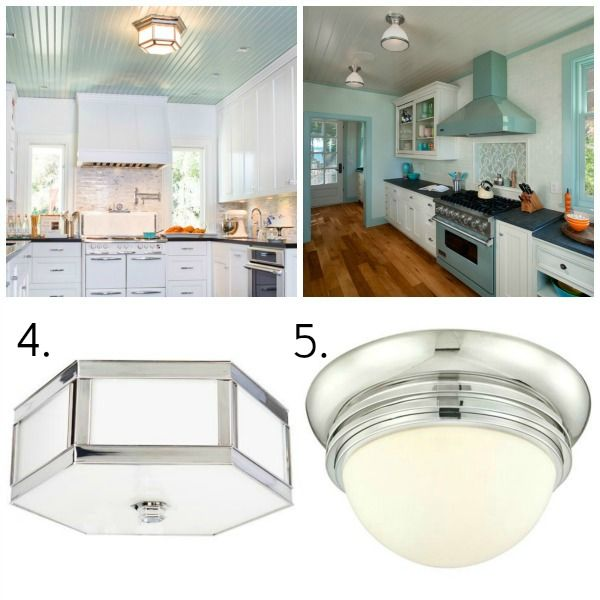 surface mount lighting in kitchen