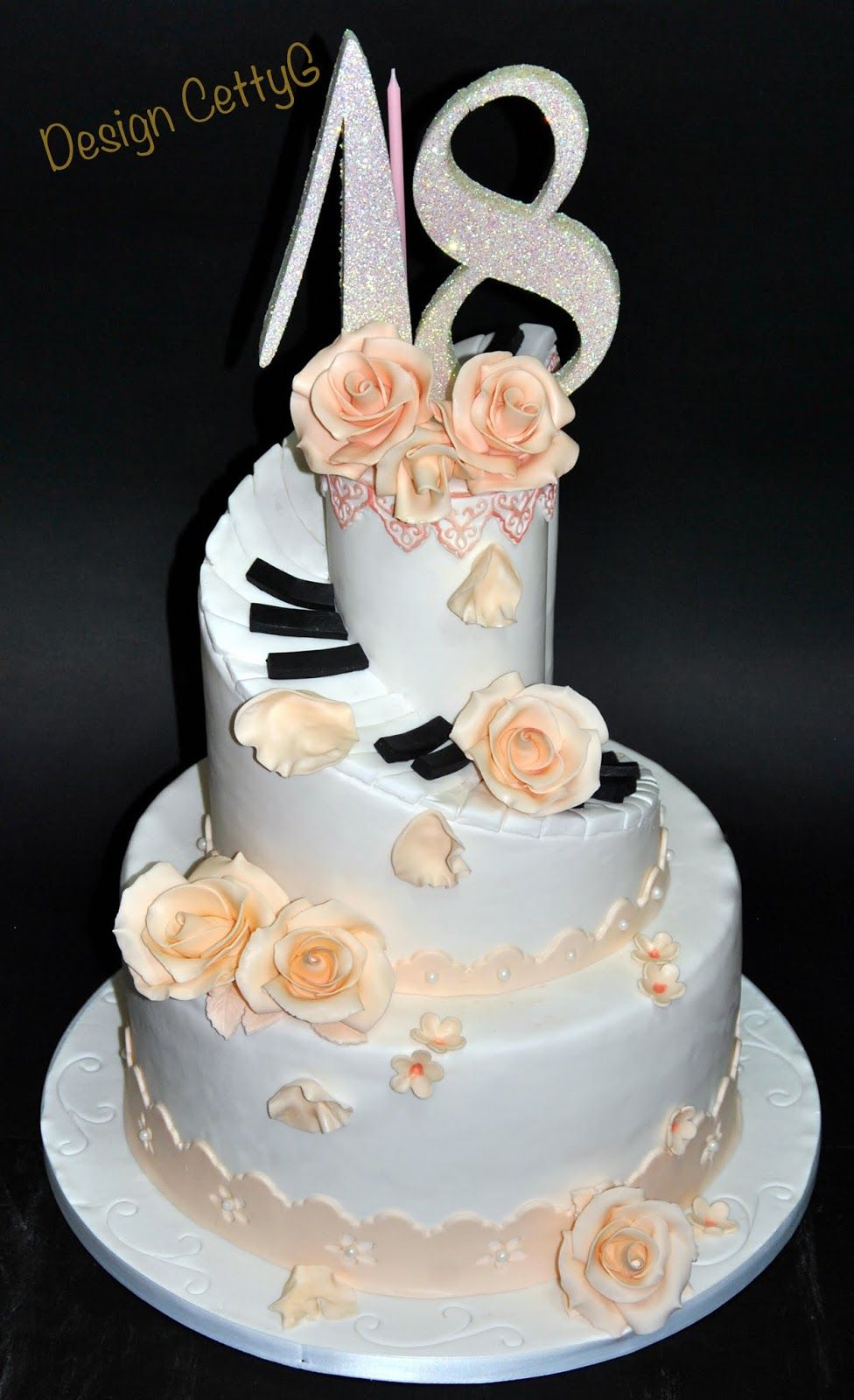 Le torte decorate di cettyg 18 anni cakes - Torte salate decorate ...