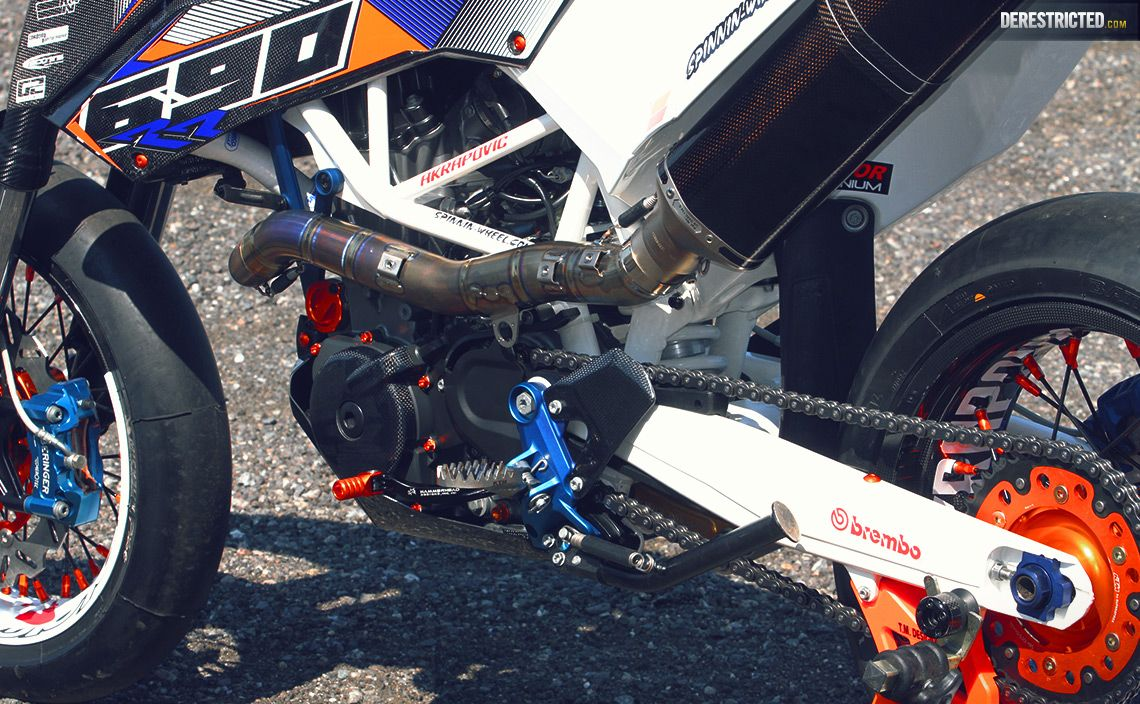 Supermoto ktm 690 stunt concept bikemotorcycletuned car tuning car - Ktm Smc 690 Rr Dario Dee Custom Build