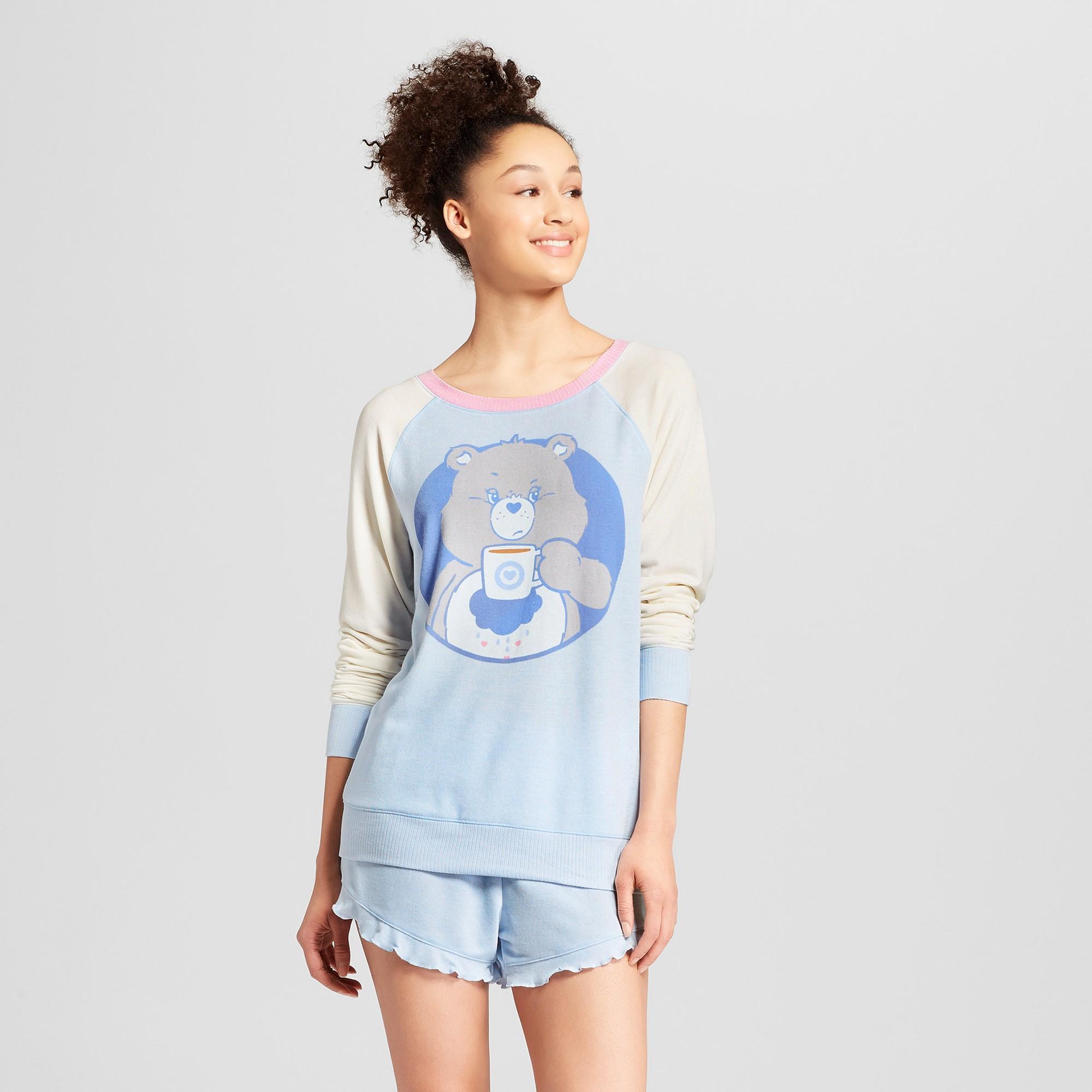 3bfb90881 Care Bears Women s Grumpy Bear Sleep Sweatshirt - Blue XS