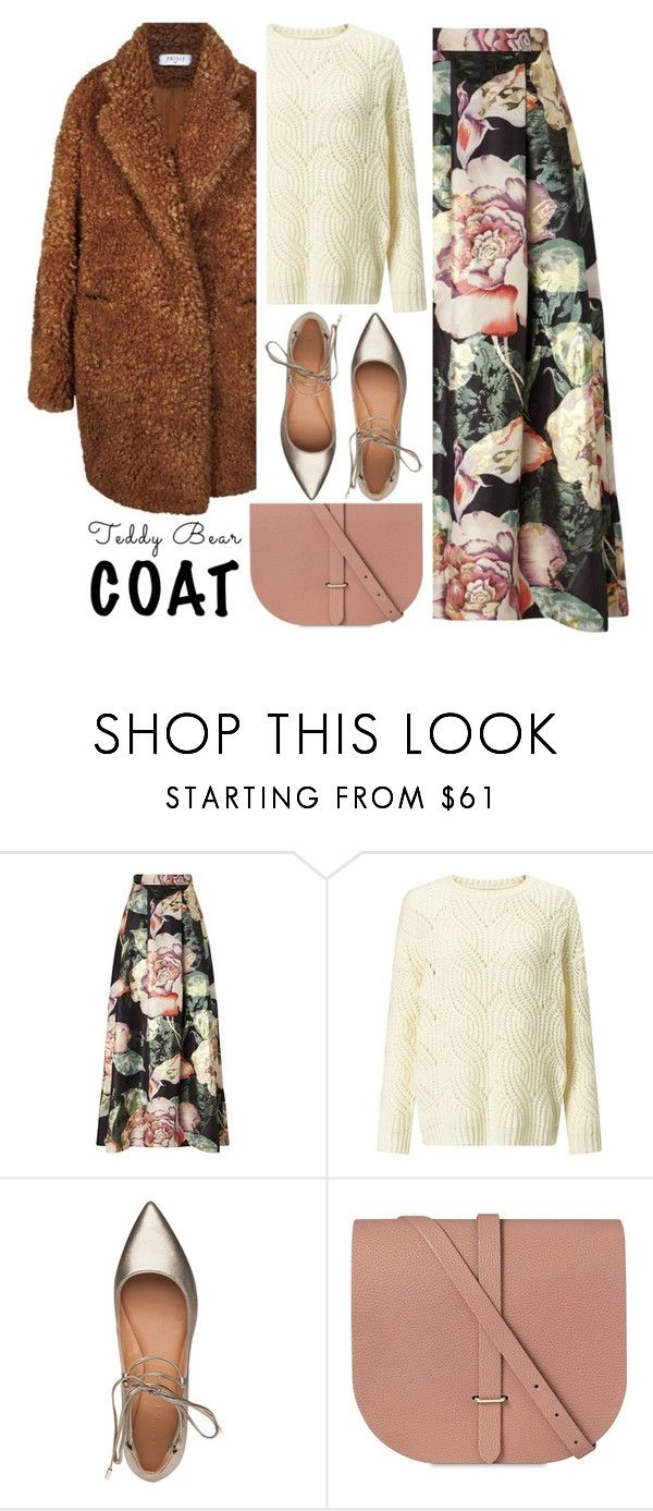 """""""Snuggle Up: Teddy Bear Coats"""" by alaria ❤ liked on Polyvore featuring Miss Selfridge, Sigerson Morrison, The Cambridge Satchel Company and teddybearcoats"""