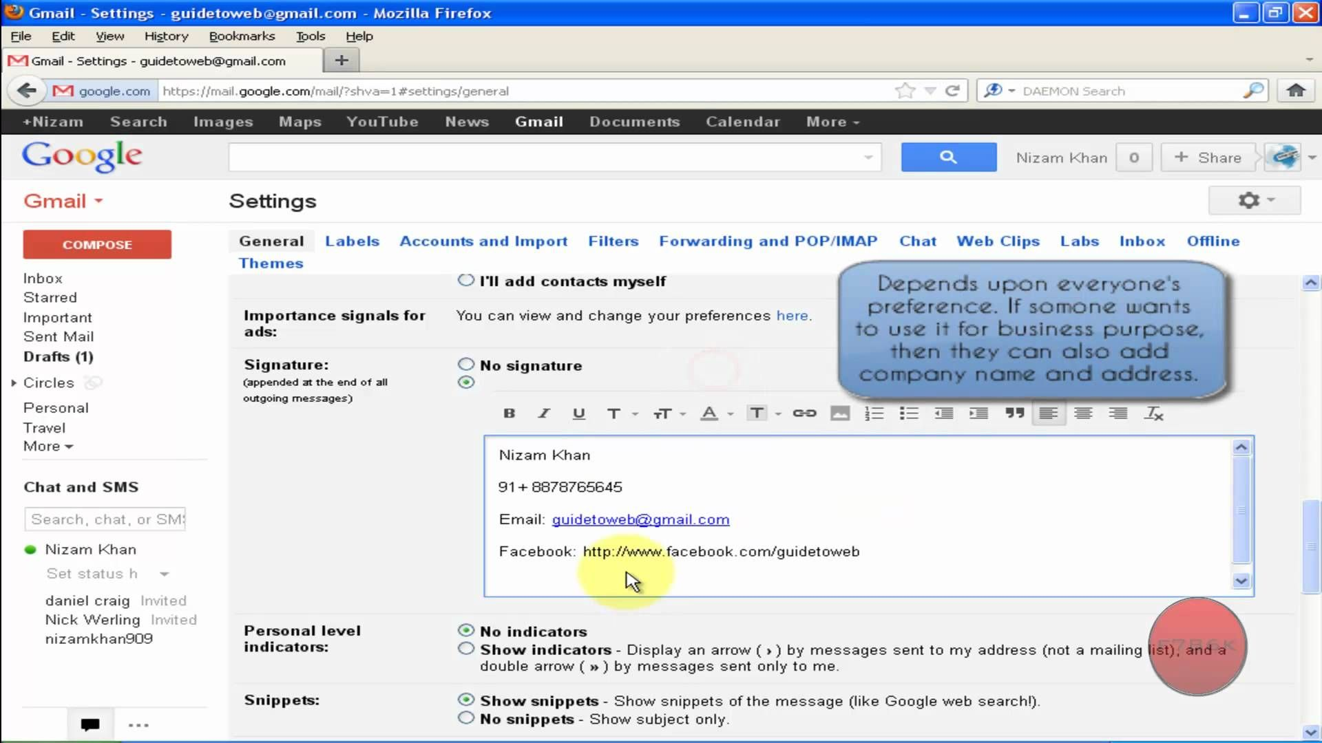 How to Create Signature in Gmail Account? • First, Login