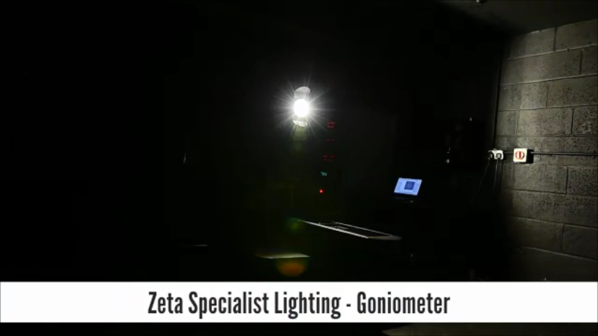 Our Goniometer allows us to measure luminous flux, light intensity