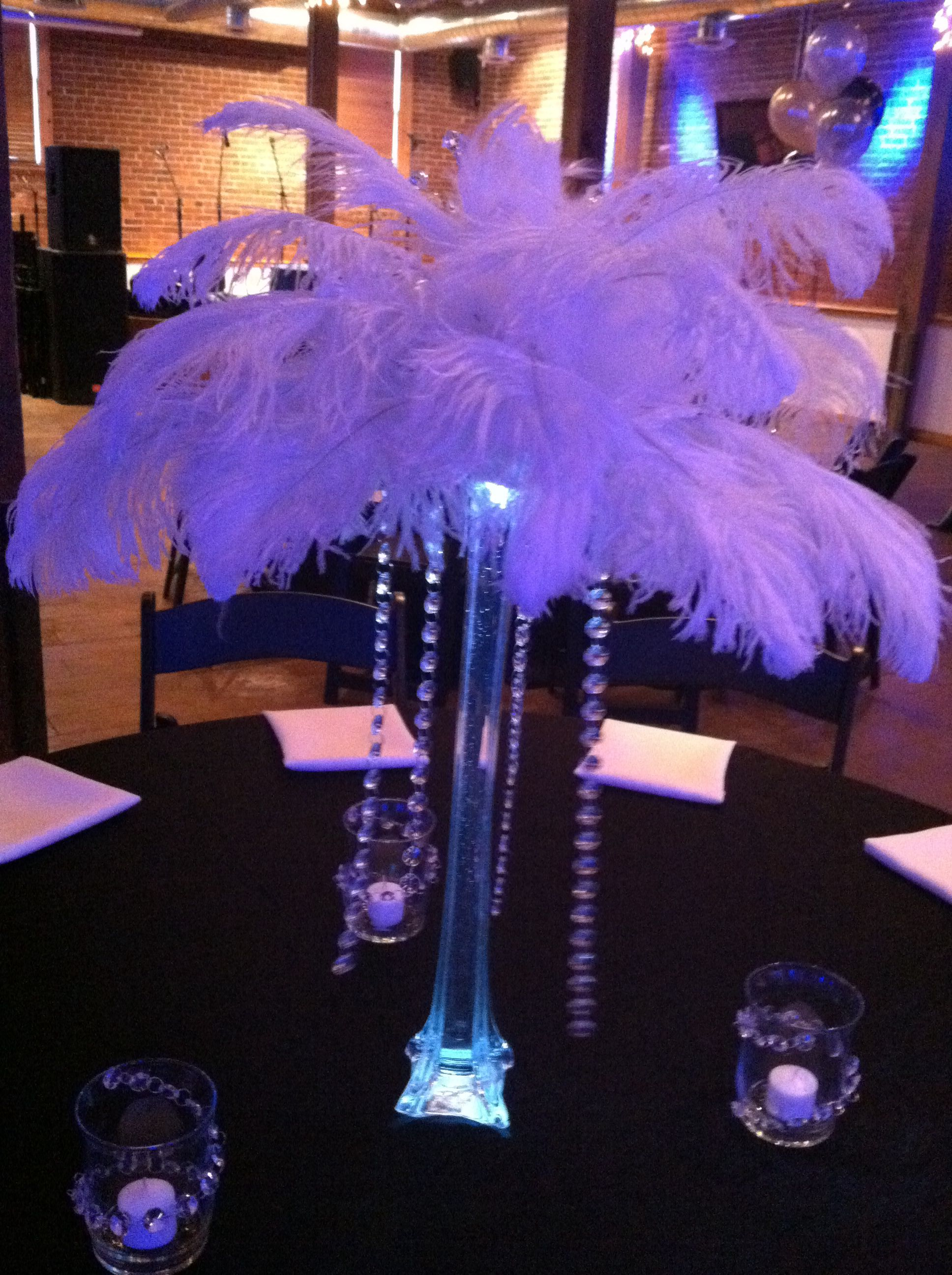 Sweet 16 Table Decor Feather Centerpieces Party Decorations Six Parties