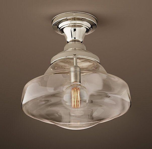 Parisian Architectural Clear Glass Brasserie Flushmount Lighting Pinterest