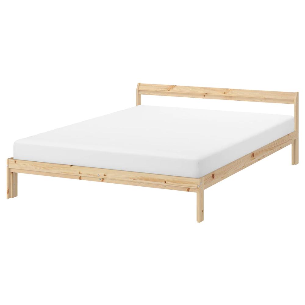 NEIDEN Bed frame, pine birch, Luröy, Full IKEA in 2020