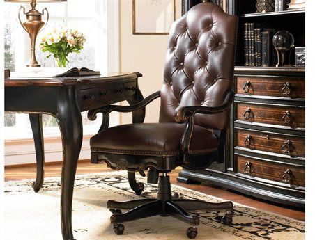Hooker Furniture Grandover Black With Gold Accent Executive Swivel Chair