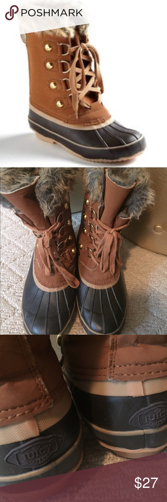98f3122b80c0 Juicy Couture Fur Lined Duck Boot Snow Boot A terrific option for the cold  months