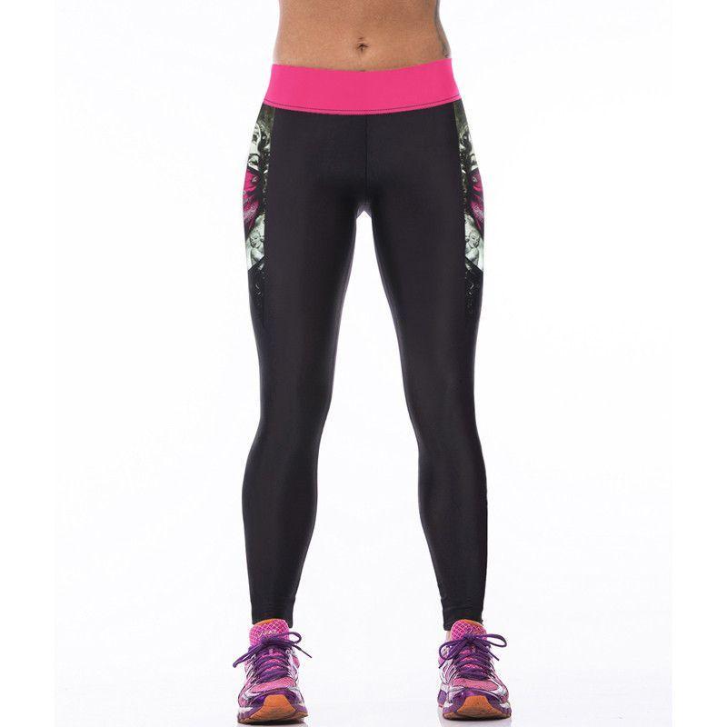Women Sportswear Yoga Pants Skinny High Waist Elastic