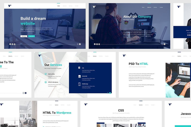 Website Design Powerpoint Template 483995 Presentation Templates Design Bundles