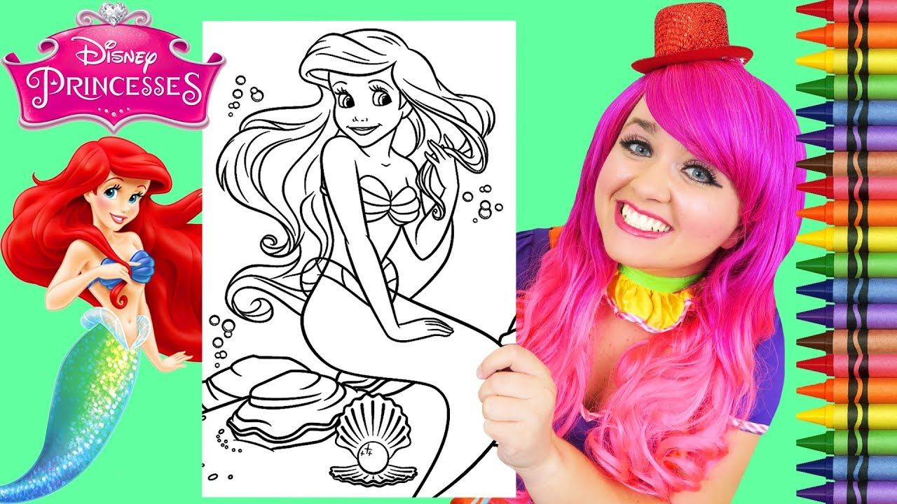 Coloring Ariel The Little Mermaid Giant Disney Coloring Page Crayola Cra Disney Colors Disney Coloring Pages The Little Mermaid