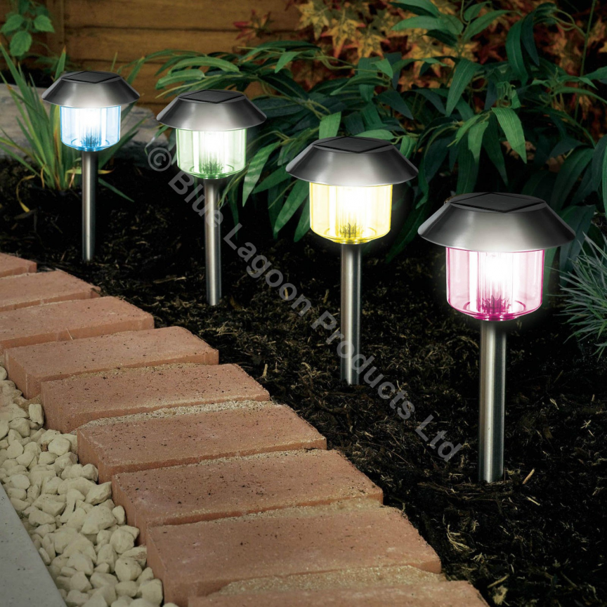 Changing Solar Power Light Led Post Outdoor Lighting Powered Garden Solar Powered Garden Lights Led Outdoor Lighting Solar Panel Garden Lights