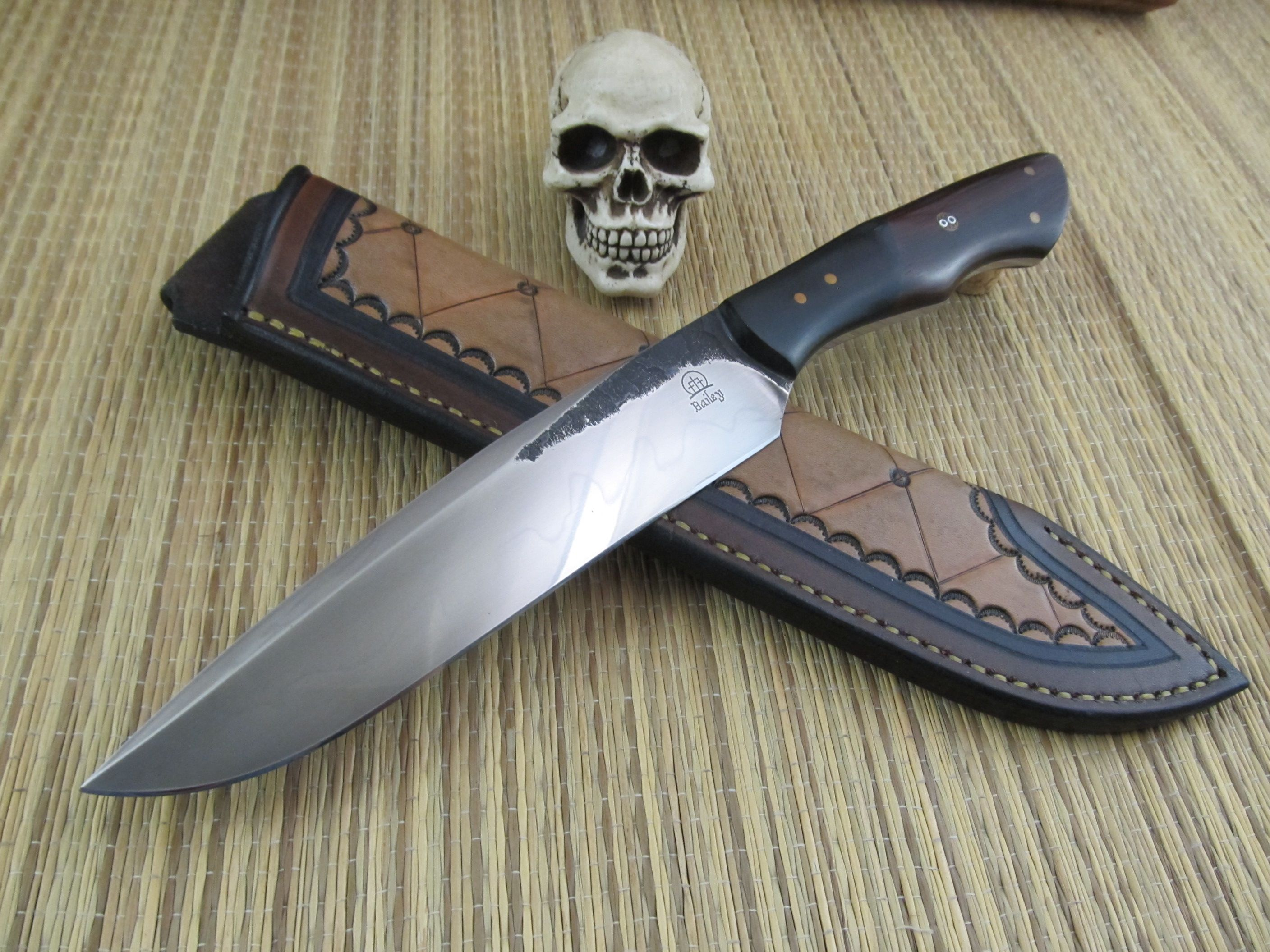 Matt Bailey Hand Forged Bowie Camp Knife Hand Forged