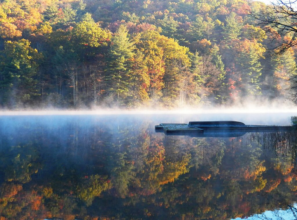Reflection perfection virginia fall state parks west