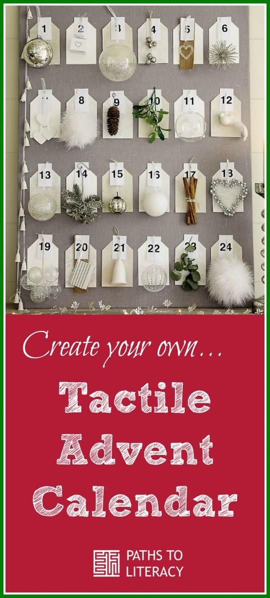 Create your own tactile advent calendar for children who are blind - how to create your own calendar