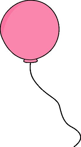 pink balloon clip art-birthday