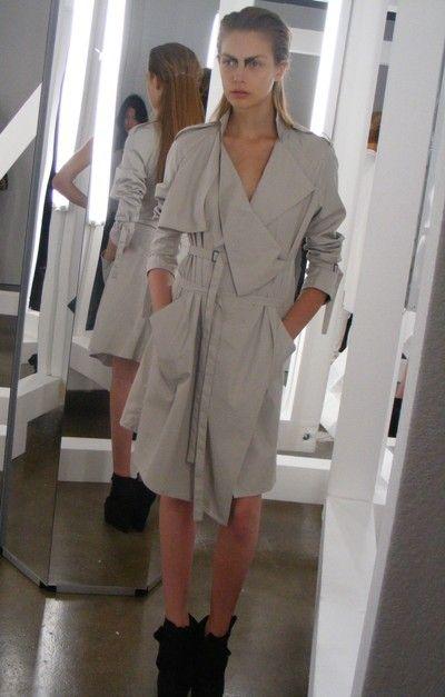 Kimberly Ovitz' deconstructed trench coat