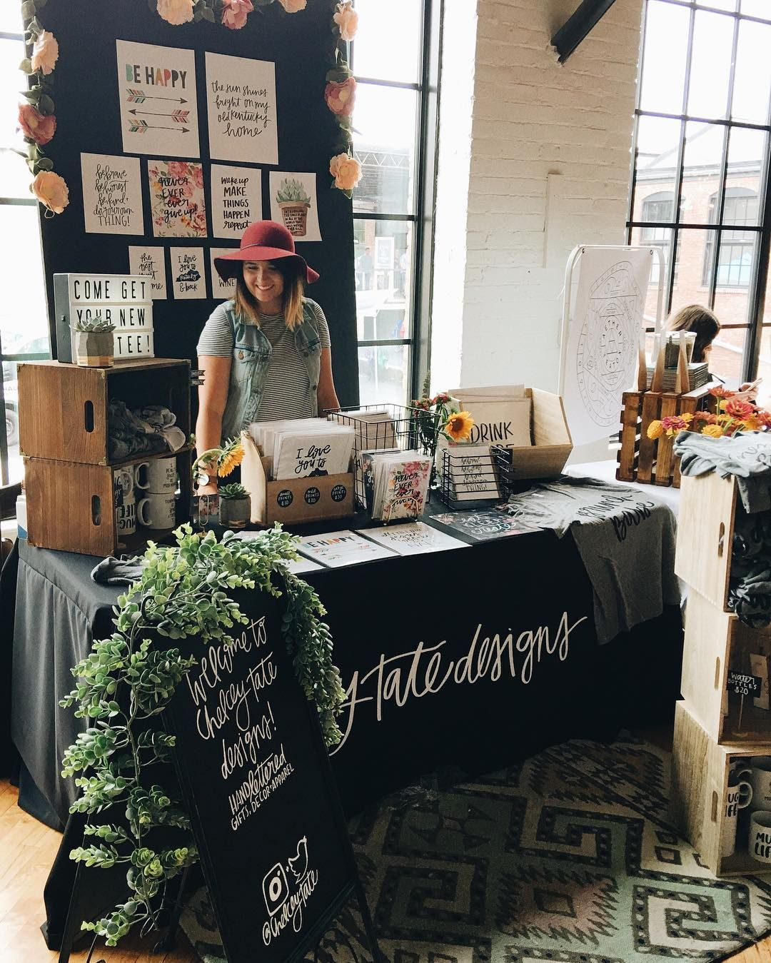 Chelcey Tate Designs 6x6 Craft Market Booth Inspiration Made