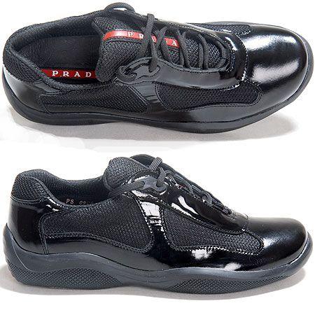 d6f9f7cb0d6 Prada Black Patent Leather Sneakers Women