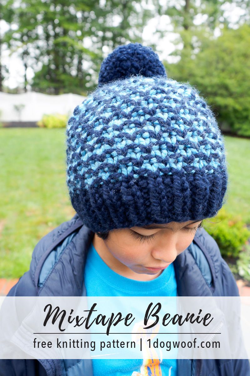 Mixtape Beanie: Free Knit Hat Pattern | Creativity - Yarn