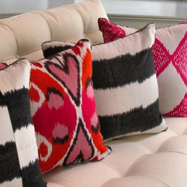 Madeline Weinrib Ikat Pillows Pillows Ikat Pillows