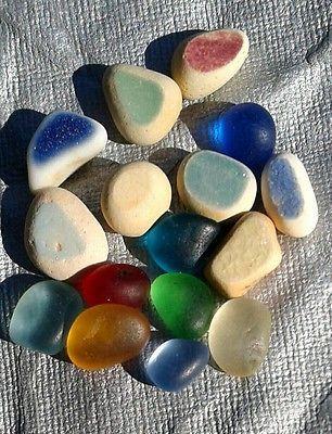 Tiny Flawless Rare Genuine Sea Glass Gems Beach Jewlery Red Turquoise Cobalt Jq