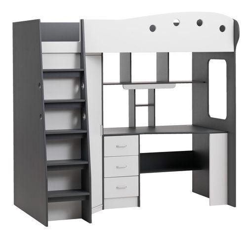 łóżko Piętrowe Tavlund Białyszary Jysk Wnętrza łóżka