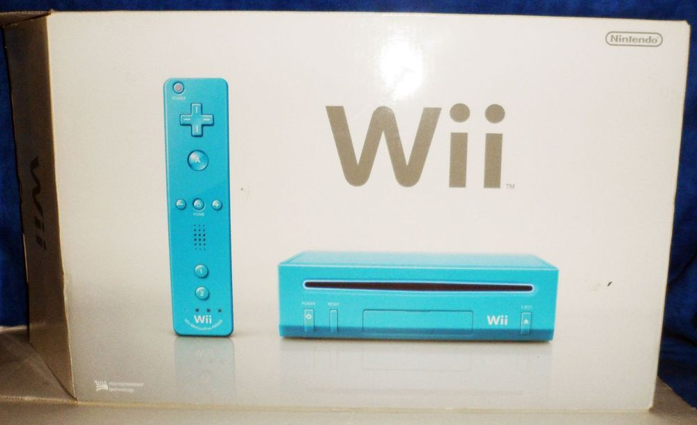Nintendo Wii Limited Edition Blue Console   SA6 #Nintendo