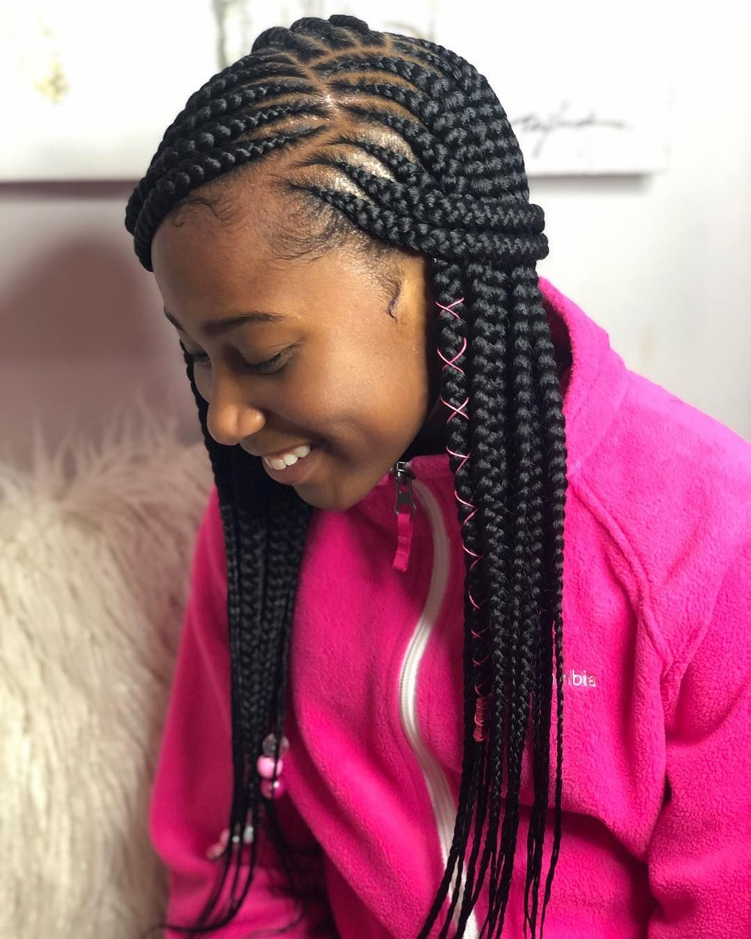 2 Layers She Don T Like To Sit Long Kid Clients Are Bomb Swipe Lef Braids Hairstyles Pictures African Braids Hairstyles Pictures Braided Hairstyles