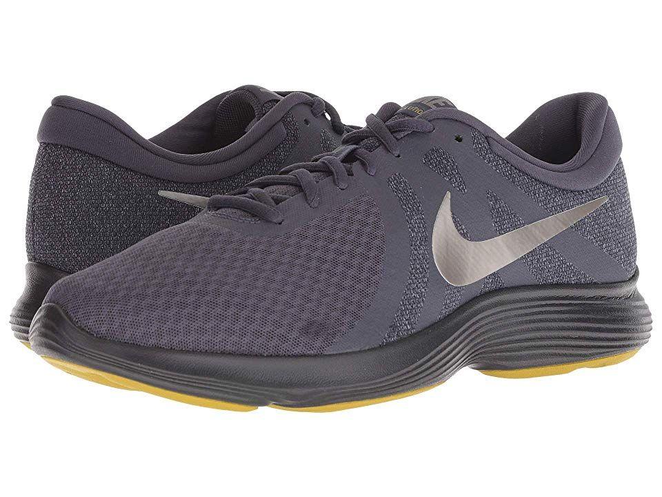 86d99fb9c63a2 Nike Revolution 4 (Gridiron Metallic Pewter Light Carbon Black) Men s  Running