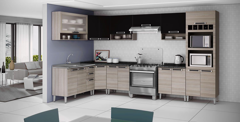 Cozinha Planejada Itatiaia 3 Jpg 1500 766 Vestidos Pinterest  ~ Armario Para Cozinha Itatiaia