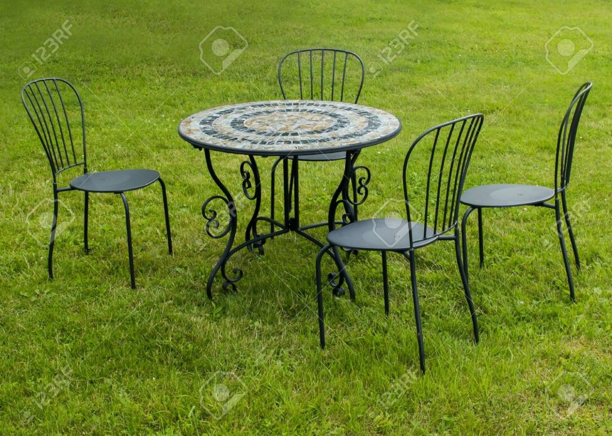 Garden Metal Table And Chair Sets in 10  Metal table, Garden