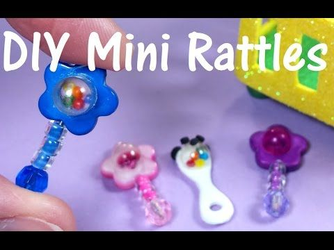 how to: miniature baby rattle #dollaccessories