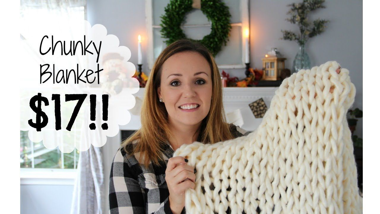 8d86c8eeb0 How to make a Chunky Knit Blanket for  17